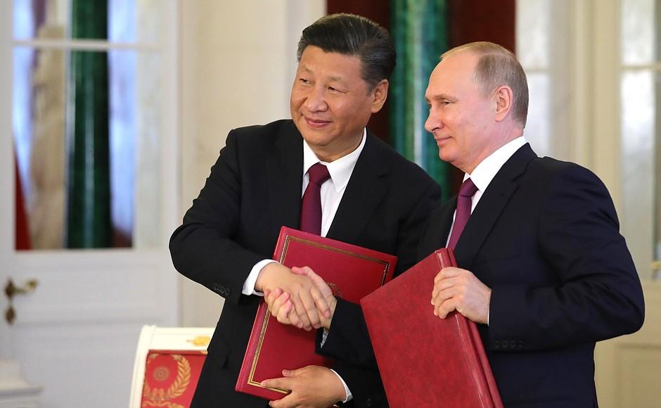 Переговоры Владимира Путина с Председателем Китайской Народной Республики Си Цзиньпином. 2017