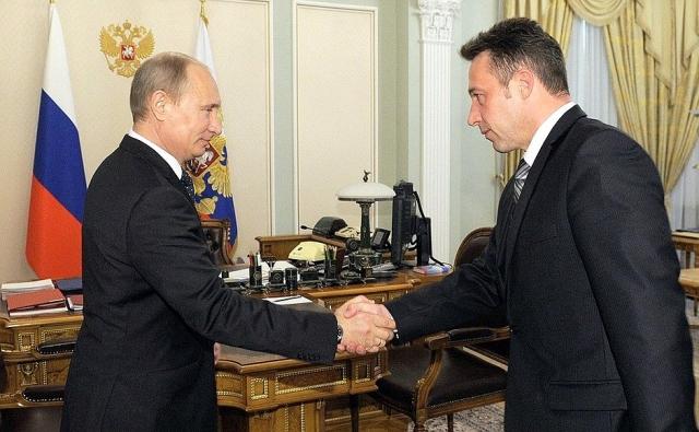 Владимир Путин и Игорь Холманских. 2012