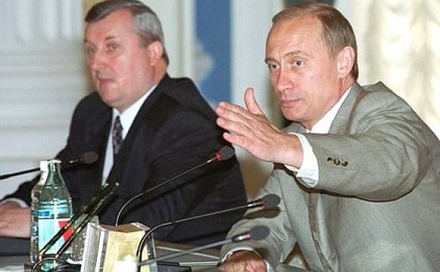 Петр Латышев и Владимир Путин. 2000