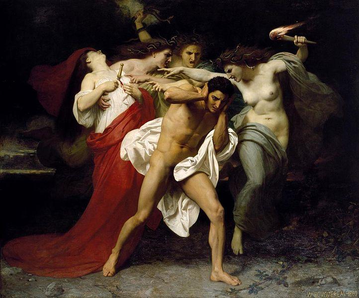 Уильям-Адольф Бугро. Раскаяние Ореста. 1862