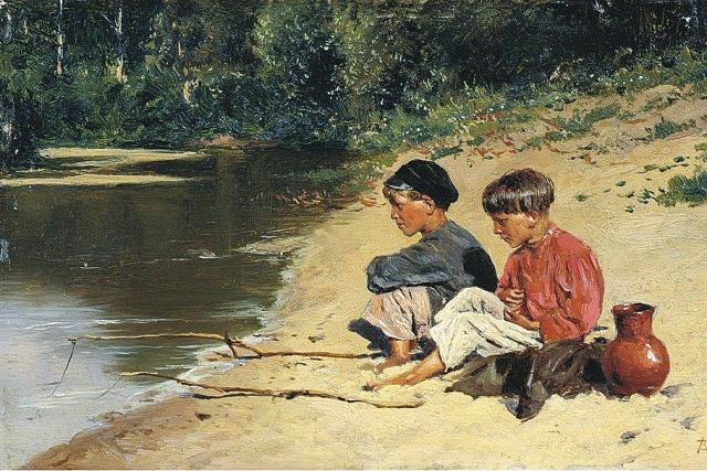 Владимир Маковский. Рыбачки. 1886