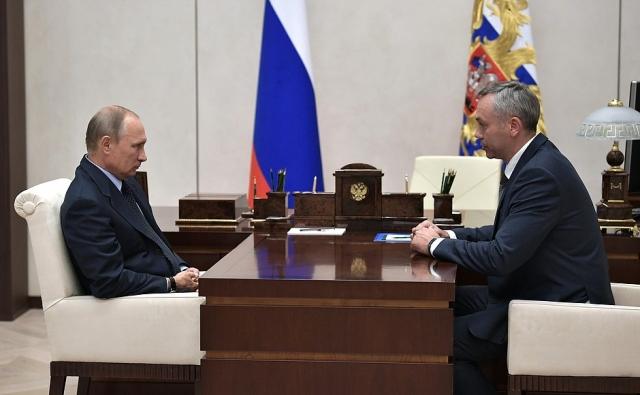 Встреча Владимира Путина с  Андреем Травниковым