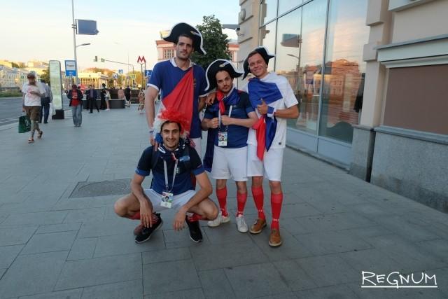 Болельщики из Франции в Москве