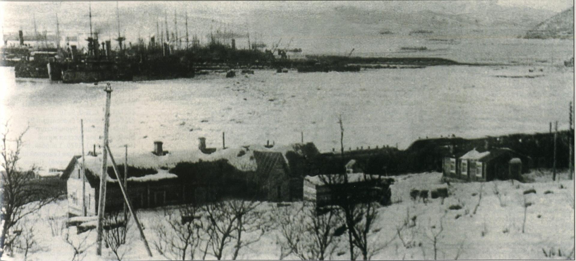Интервенция Антанты против России. Британская эскадра на мурманском рейде. Конец 1918
