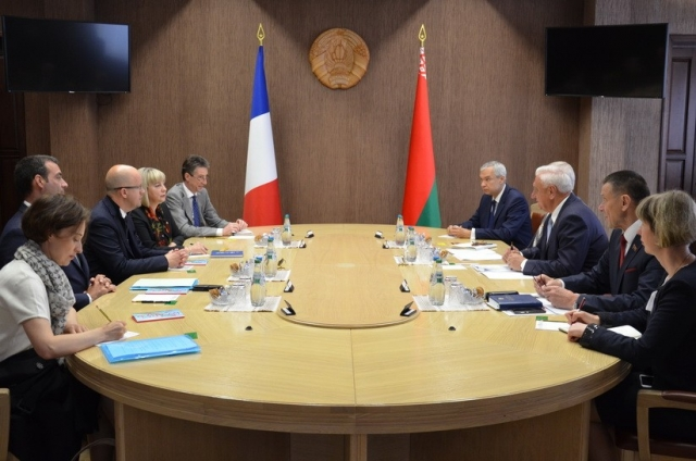 Встреча Михаила Мясниковича c делегацией группы дружбы «Франция-Беларусь»