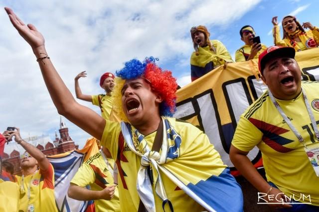 Москва накануне матча Колумбия — Англия: фоторепортаж