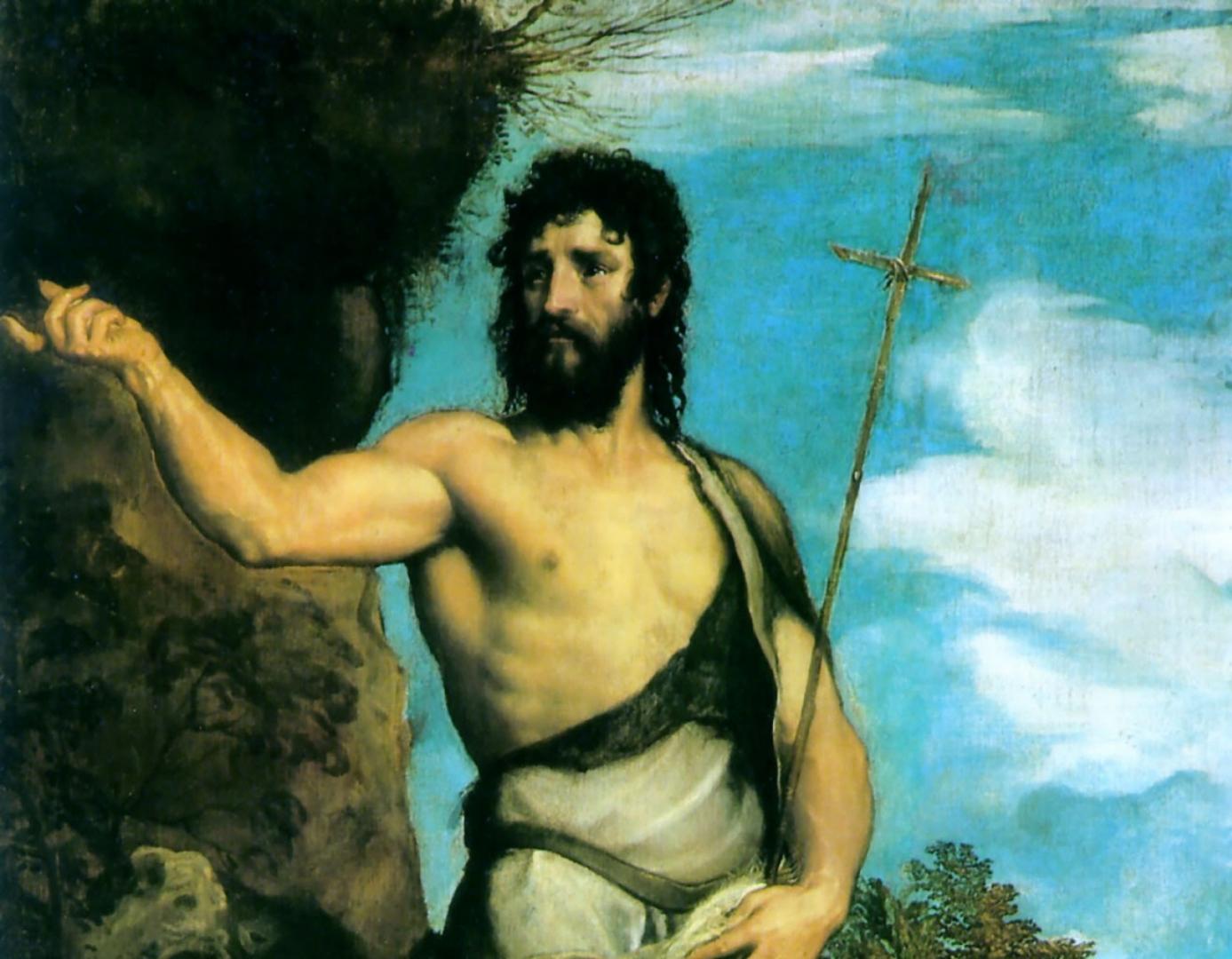 Тициан Вечеллио. Святой Иоанн Креститель (фрагмент). 1542