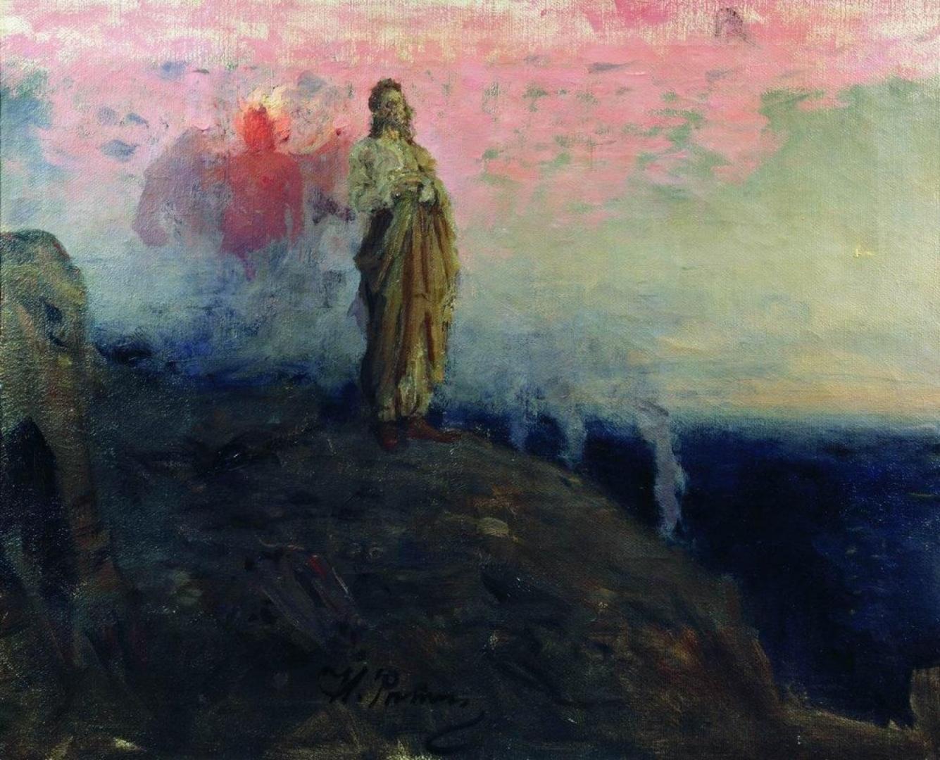 Илья Ефимович Репин. Иди за мной, Сатано (Искушение Христа). 1903