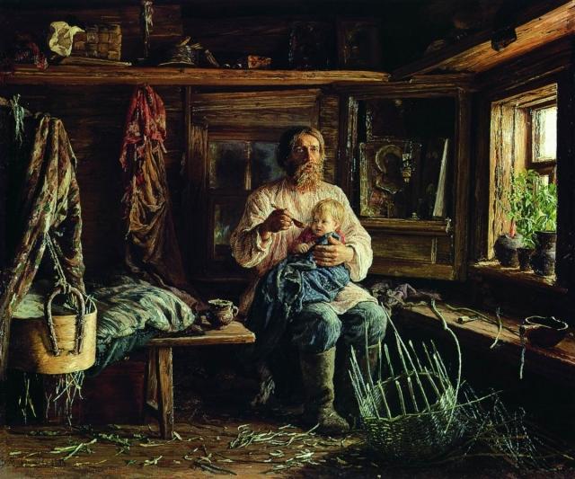Василий Максимович Максимов. Слепой хозяин. 1884