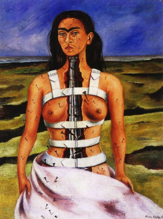Фрида Кало. Разбитая колонна. 1944