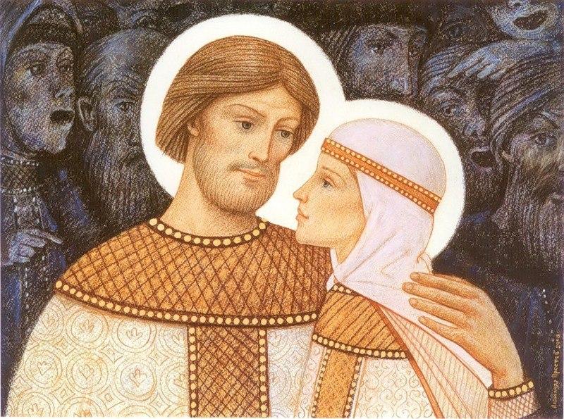 Житие святых Петра и Февронии в живописи Александра Простева
