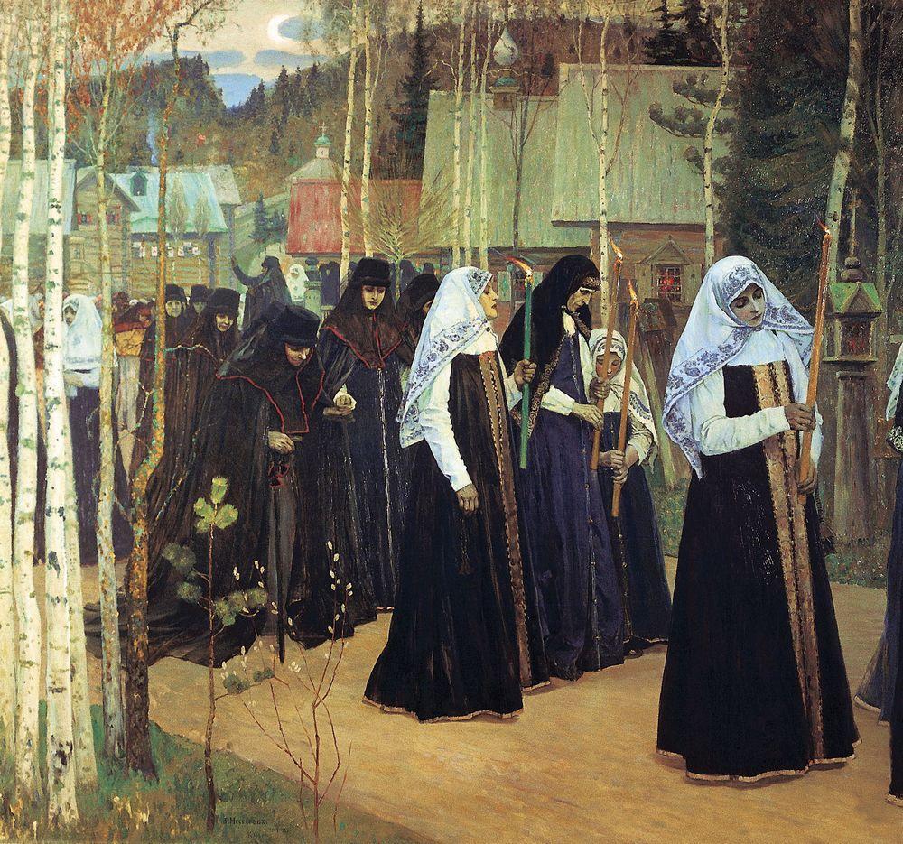 Михаил Нестеров. Великий постриг. 1898