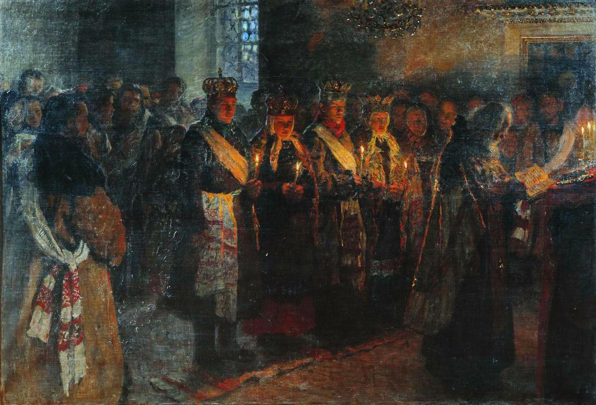 Николай Богданов-Бельский. Венчание. 1904