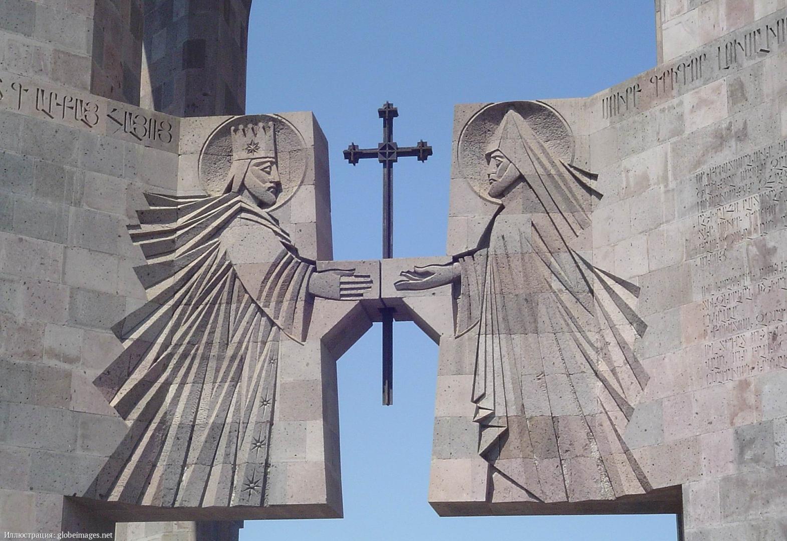 Кафедральный собор в Эчмиадзине. Фрагмент