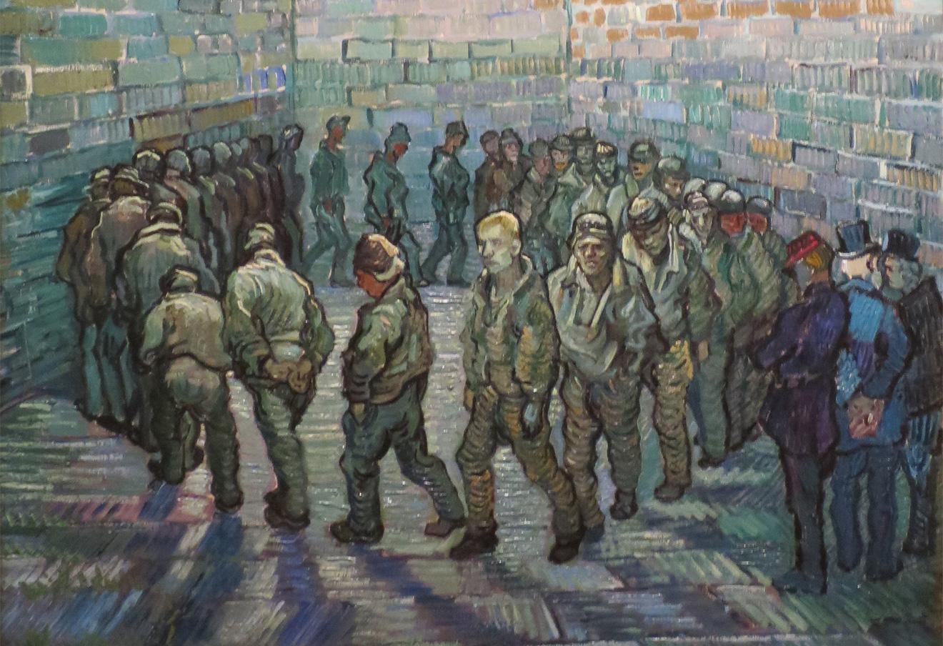 Винсент ван Гог. Прогулка заключенных. 1890