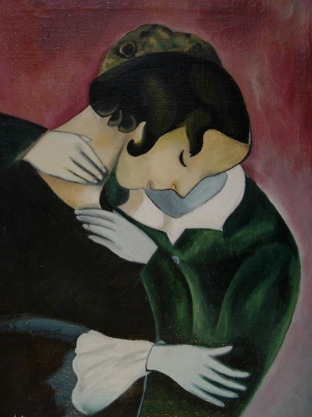 Марк  Шагал. Розовые любовники. 1915