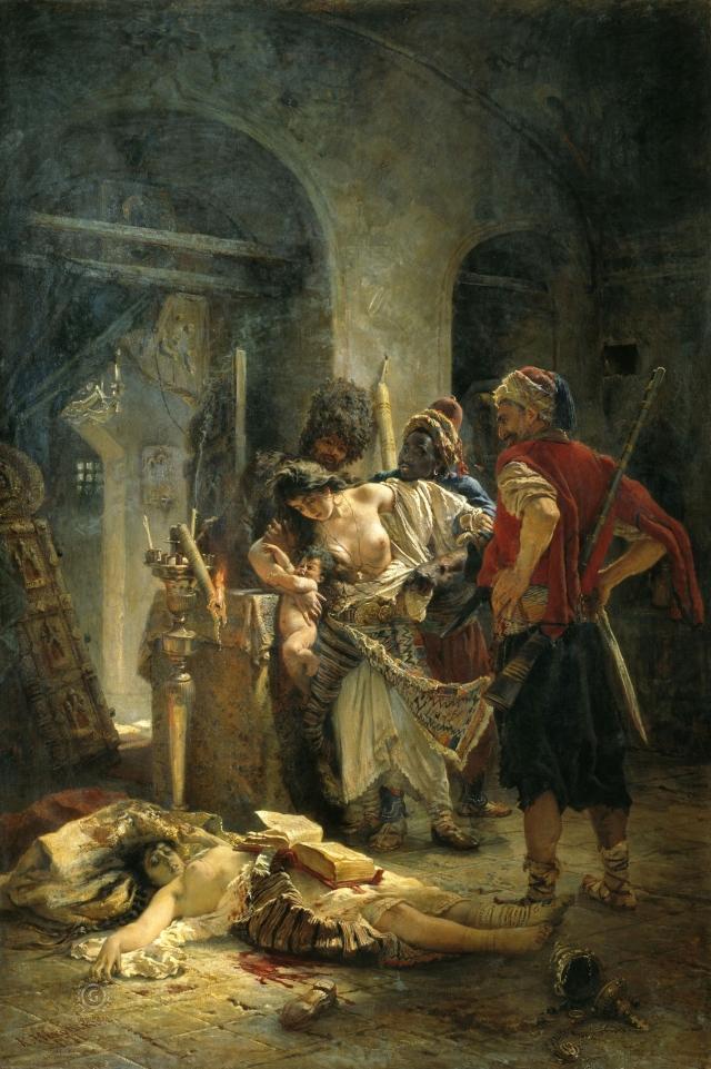 Константин Маковский. Болгарские мученицы. 1877