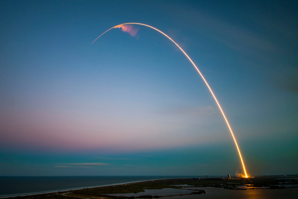 Ракета летит к цели