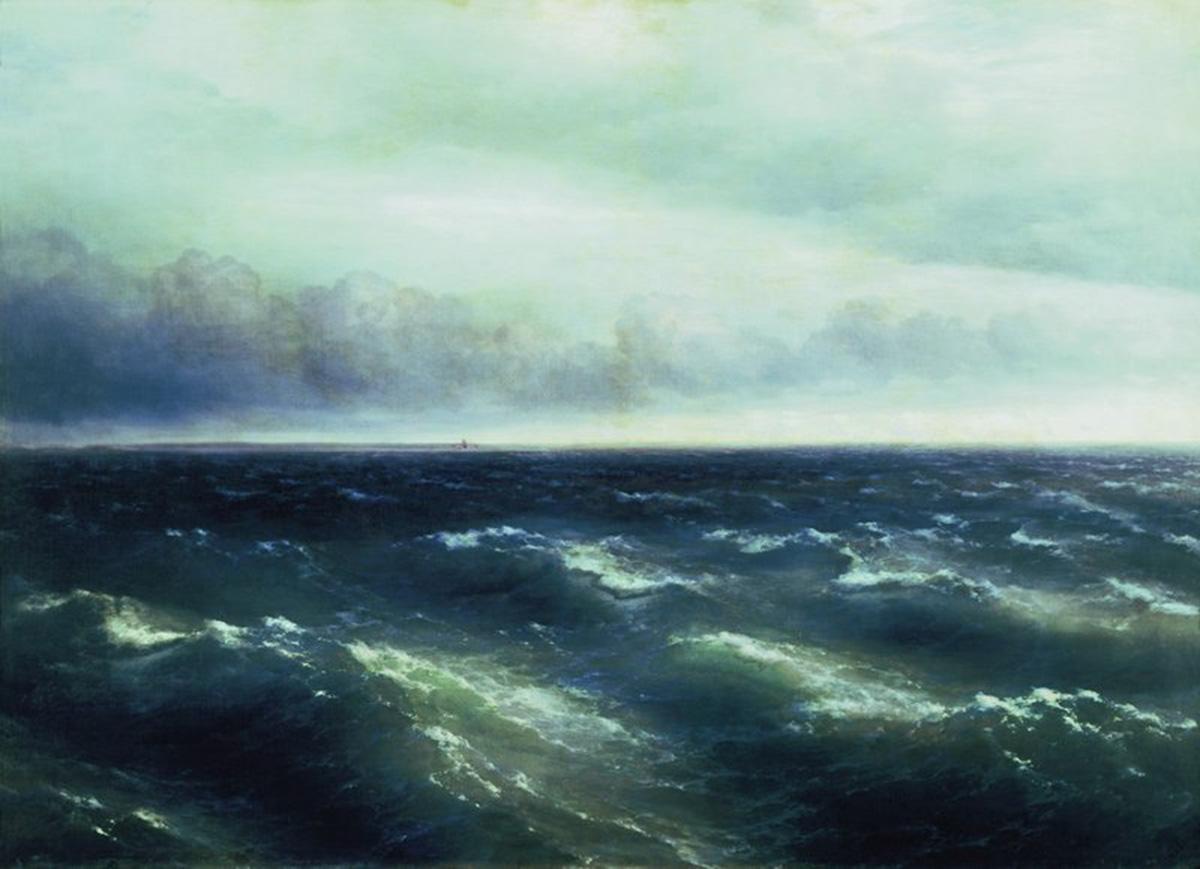 Иван Айвазовский. Черное море (На Черном море начинает разыгрываться буря). 1881