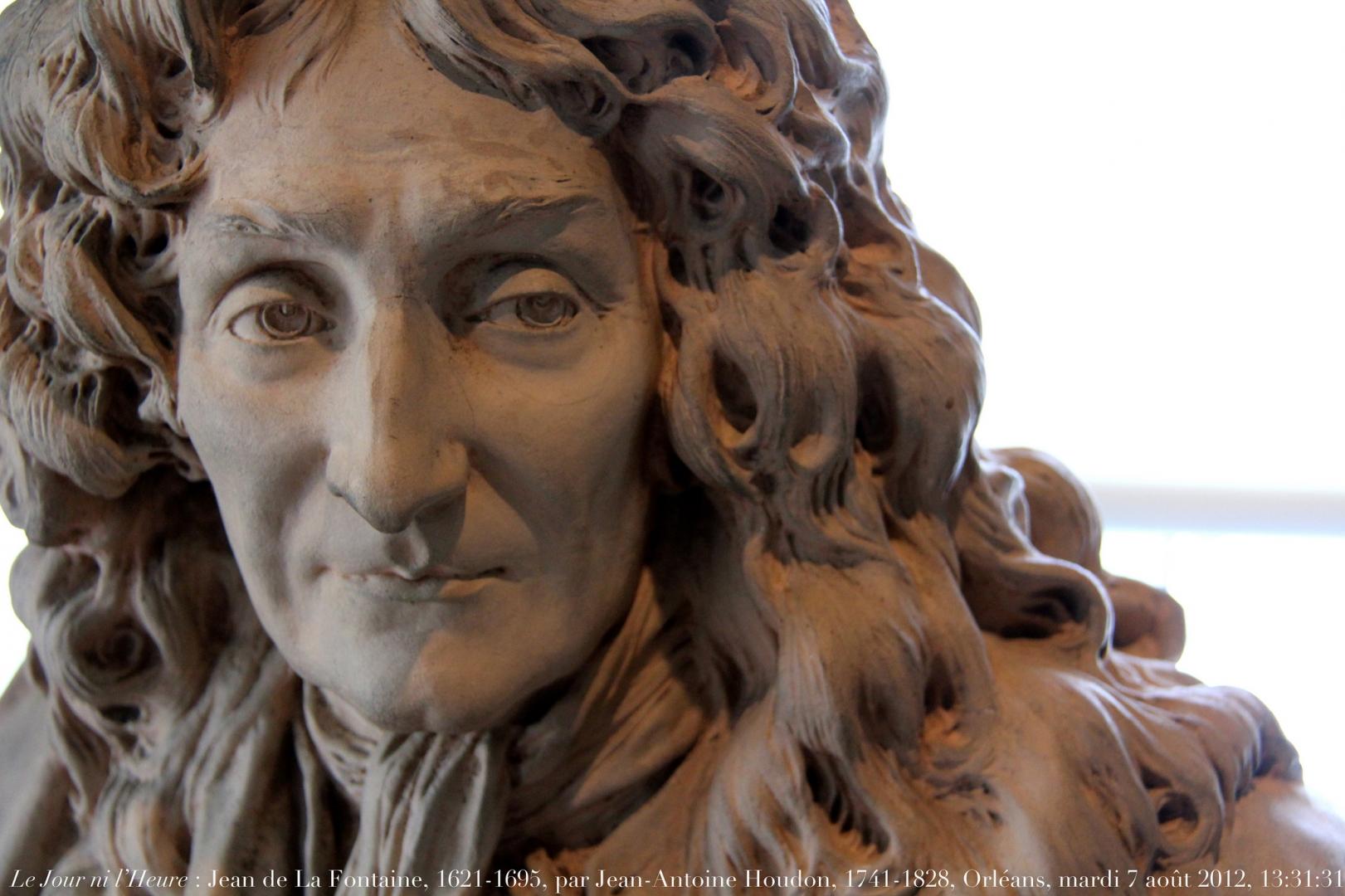 Жан-Антуан Гудон. Жан де Лафонтен. Бюст. 1780