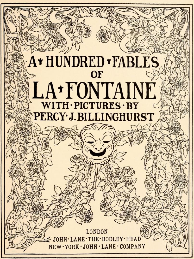 «Сто басен Лафонтена». Английское издание. 1899