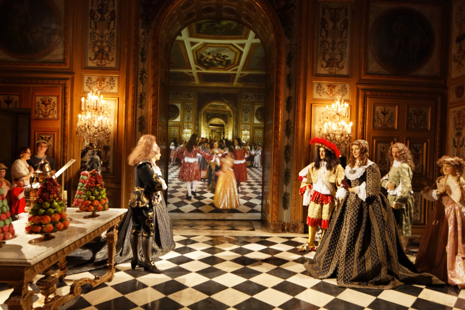 Сцена из быта дворца 17 века