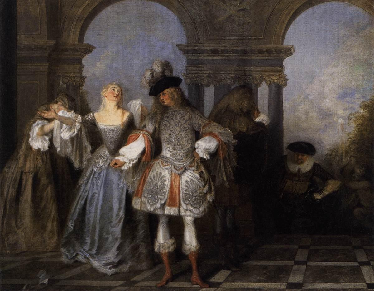 Антуан Ватто. Актеры французской комедии.  XVIII