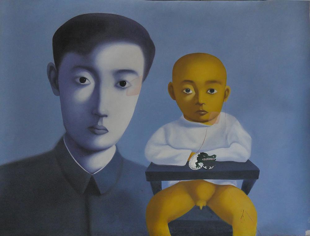 Работа Сайнхо Намчылак  на выставке «Хор меня» в Арт-центре «Борей»
