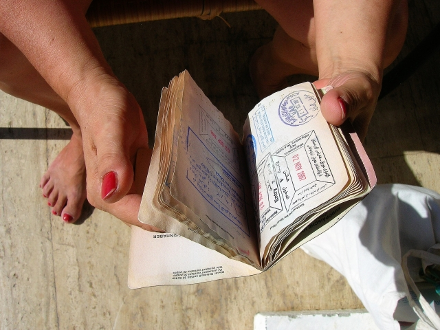 Паспорт с отметками