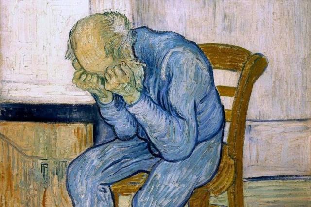 Винсент Ван Гог. На пороге вечности (фрагмент). 1890