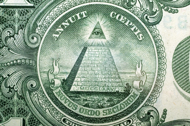 Власть. Пирамида на долларе США