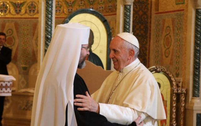 Папа Франциск и глава УГКЦ Святослав Шевчук