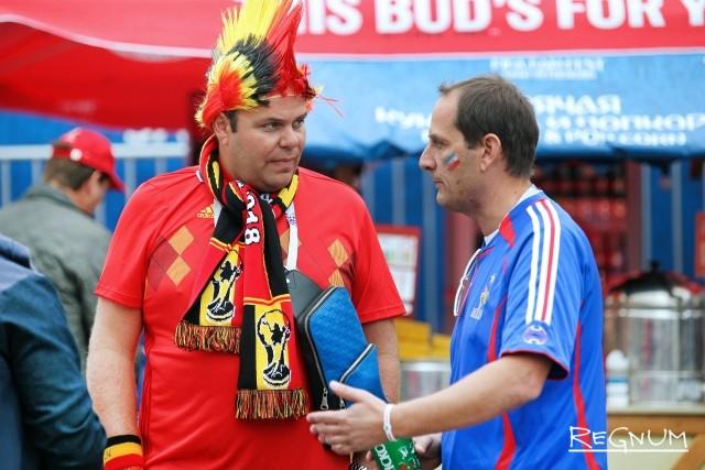 Разговор бельгийского и французского фанатов