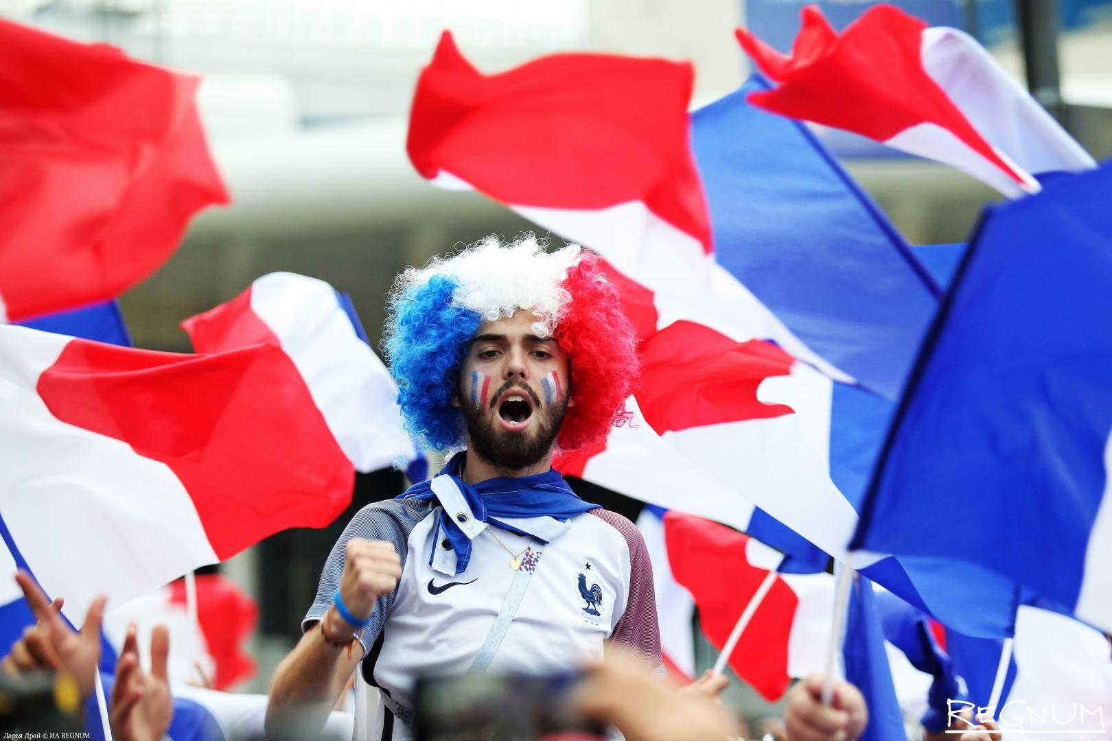 Французы на матче в Петербурге