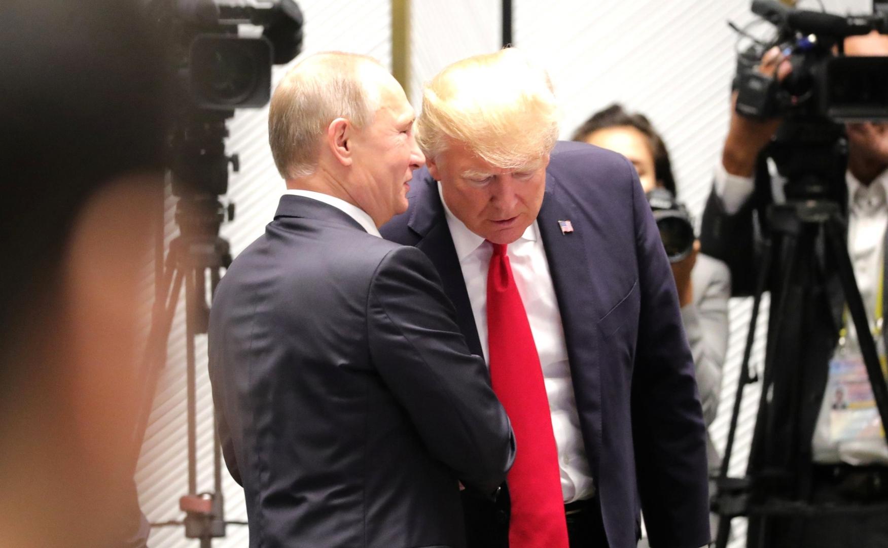 Встреча Президента России Владимира Путина и Президента США Дональда Трампа. Дананг. 2017