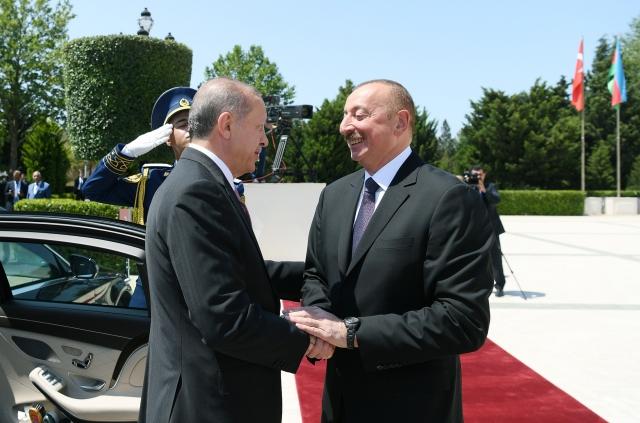 Реджеп Тайип Эрдоган и Ильхам Алиев. Баку