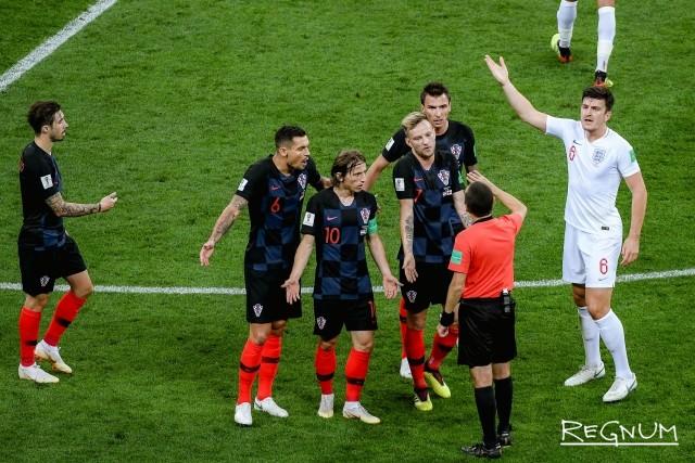 Матч между сборными Англии и Хорватии