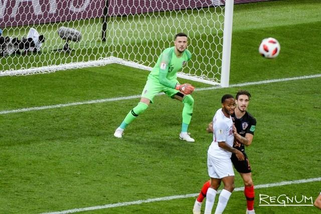 Опасный момент у ворот сборной Хорватии