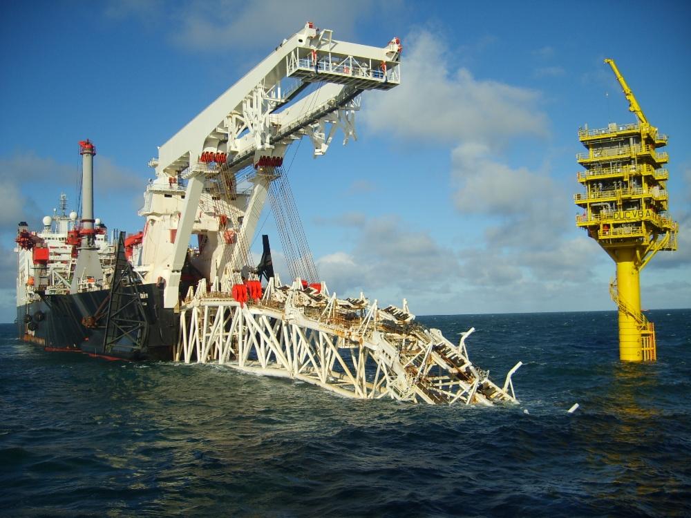 Строительство газопровода «Северный поток». Трубоукладчик Solitaire