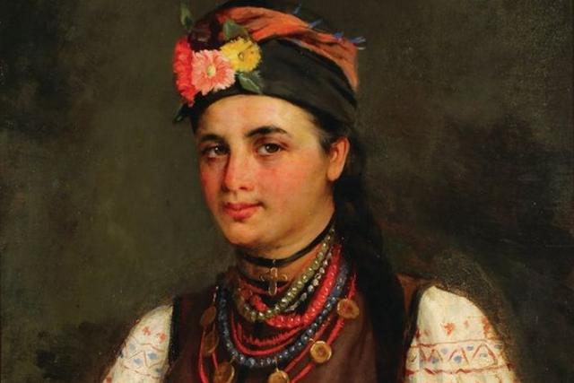 Николай Пимоненко. Портрет девушки-украинки (фрагмент). 1896