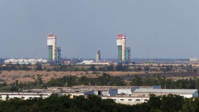 Вид на Одесский припортовый завод