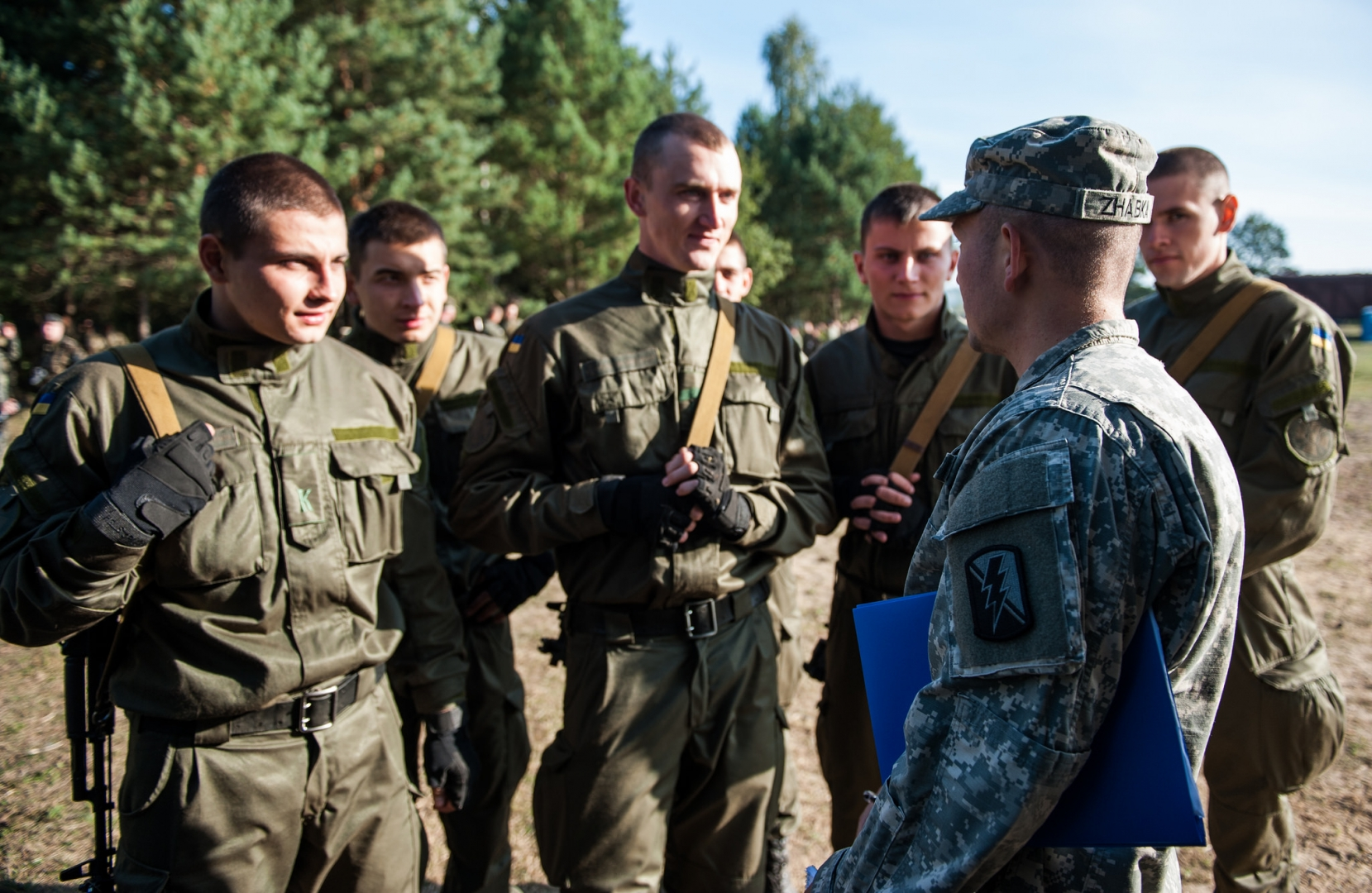 Участие Украины в военных учениях НАТО. Яворовский полигон в районе Львова. 2014