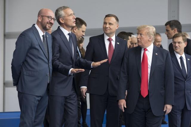 Саммит НАТО. Трамп. Брюсссель. 2018