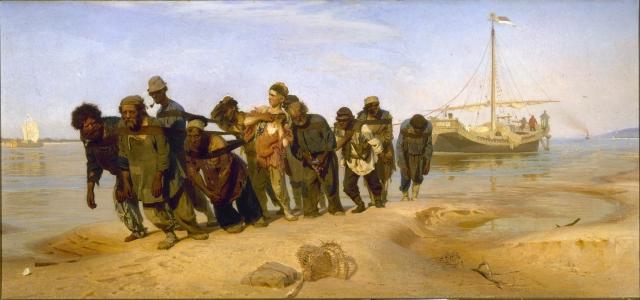 Илья Ефимович Репин. Бурлаки на Волге. 1873