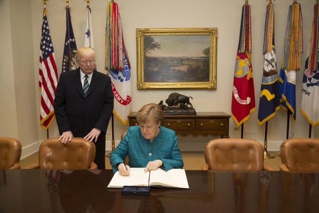 Ангела Меркель в Белом доме