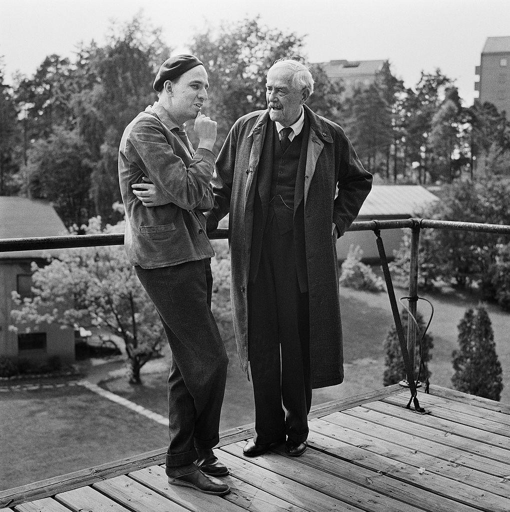 Ингмар Бергман и Виктор Сьестерем. 1957