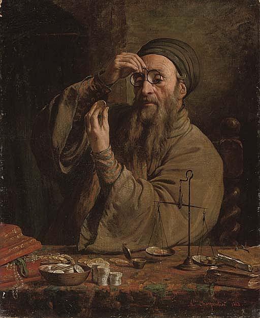 Огюст Шарпантье. Кредитор. 1842