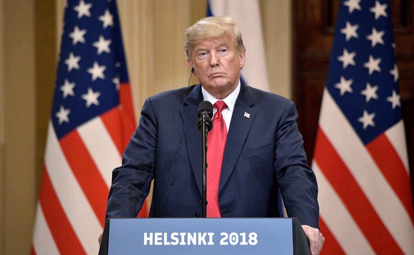 Дональд Трамп. Хельсинки. 2018