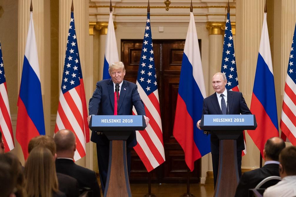 Дональд Трамп и Владимир Путин. Хельсинки. 2018