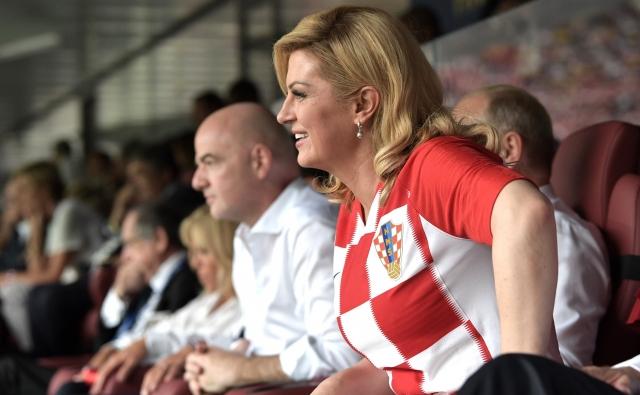 Колинда Грабар-Китарович на финальном матче чемпионата мира по футболу